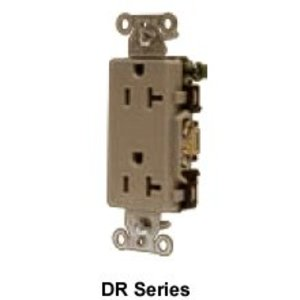 Hubbell-Wiring Kellems IG5352 Isolated Ground Duplex Receptacle, 20A, 125V, 5-20R, Orange