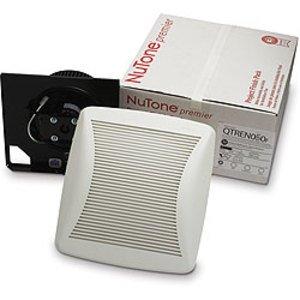 Nutone QTRN050F Ceiling Fan, Low Profile, 50 CFM