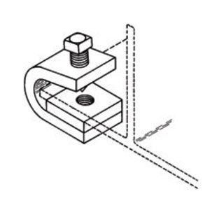 Cooper B-Line B210AZN Beam Clamp, 3/4-in. Max Flange, Zinc Plated