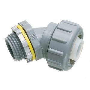 "Arlington NMLT45125 Liquidtight Connector, 45°, 1-1/4"", Non-Metallic, For Type B"