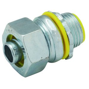 "Hubbell-Raco 3513RAC Liquidtight Connector, Insulated, Straight, 3/4"", Steel"