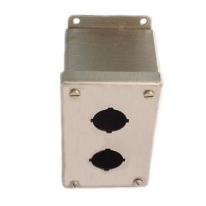 Hoffman E2PBGXSS Enclosure, Pilot Device, 22.5 mm, 2 Hole, Stainless Steel, Type 4X