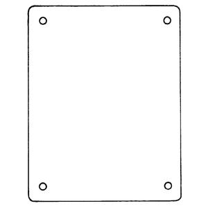 Carlon JP1210P 10.75 X 8.87 Pvc Back Panel