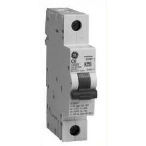GE EP101ULC01 Breaker, Miniature, 1P, 1A, 120VAC, 10kAIC, DIN Rail Mount