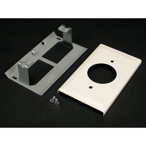 Wiremold G3033JE Single Receptacle Cover, 3000 Series Raceway