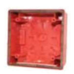Wheelock IOB-R Weatherproof Back Box, Red, For Fire Alarm Devices, Steel