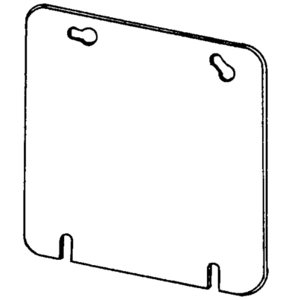 """Appleton 8487RD 4-11/16"""" Square Cover, Flat, Red"""