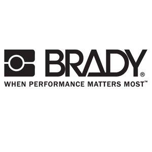 Brady 102312 B302 3.5x6 Blk/red/w 100/rl Flash&shock
