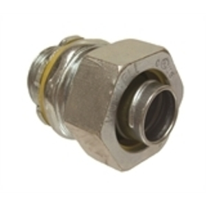 "Hubbell-Raco 3402 Liquidtight Connector, Straight, 1/2"", Steel"