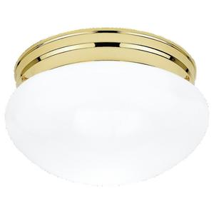 Sea Gull 5326-02 Mushroom Fixture, 1 Light, 60W, Polished Brass
