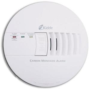 Kidde Fire 21006406 Carbon Monoxide Alarm, 120VAC, White, 9V Battery Backup