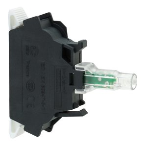 Square D ZBVG35 Pilot Device, Light Module, Protected LED Green, 120VAC, 22.5mm