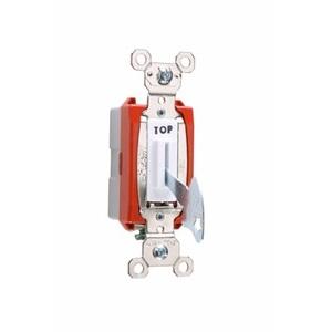 Pass & Seymour PS20AC1-WL Lock Switch, 1-Pole, 20A, 120/277V, White