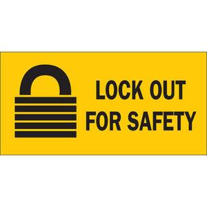 "Brady 88303 2-1/4""x4-1/2"" Self-Sticking Polyester Lockout Sign"