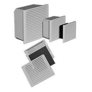 """Hoffman TFP42 Filter Fan, Side Mount, Fits 4"""", 230V AC, Non-Metallic"""