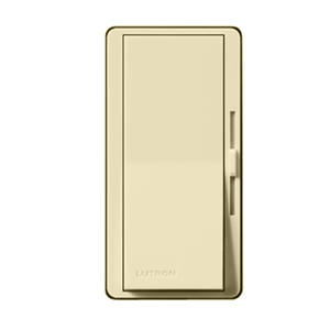 Lutron DV-10P-IV Slide Dimmer, Decora, 1000W, Single-Pole, Diva, Ivory