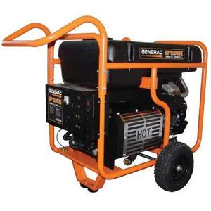 Generac 5734 Generator, Portable, 15kW, 120/240VAC, 125A, Gas, Electric Start