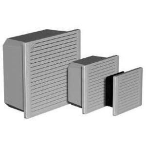 "Hoffman TFP41 Cooling Fan Package, Diameter: 4"", 115V, 50/60Hz, ABS/Light Gray"