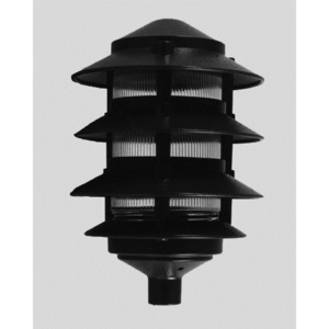Hubbell-Outdoor Lighting 583-G Louverlight, Landscape, 3-Louvers, 60W, 120V, Green