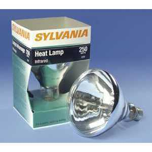 SYLVANIA 125BR40HEAT24PK-120V Incandescent Heat Lamp, BR40, 125W, 120V, Clear