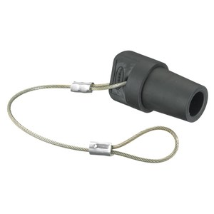Hubbell-Wiring Kellems HBLMCAPBK SINGLEPOLE, MALE CAP,