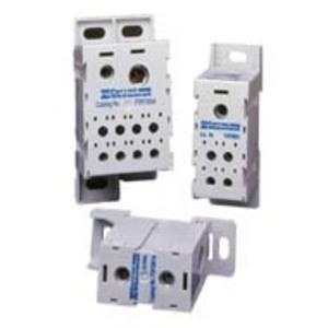 Mersen FSPDB3C Power Distribution Block, Finger Safe, 310A, 1 Line, 8 Load, Copper