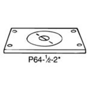 Steel City P-64-1/2-2 Brass Cover Plate