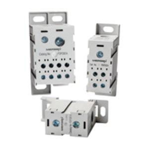 Mersen FSPDB3A Power Distribution Block, Finger Safe, 310A, 1 Line, 8 Load, Aluminum