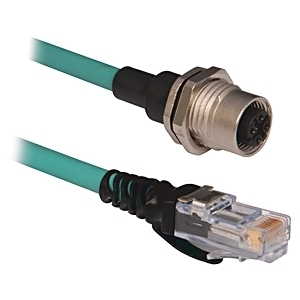 Allen-Bradley 1585D-D4TBJM-1 Cable, Ethernet Connectivity, RJ45 to Female Front, 1m, IP20 to IP67