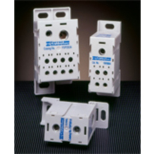 Ferraz FSPDB2C Power Distribution Block, Finger Safe, 175A, 1 Line, 4 Load, Copper