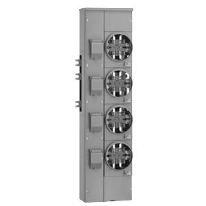 Square D EZMR114125 Meter Pak, Branch Unit, 4 - 125A Socket, 800A, 120/240VAC, 1PH