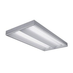 Lithonia Lighting 2RT8S232MVOLTGEB10IS Volumetric Recessed Fixture, 4', 2-Lamp, T8, 120/277V, 32W