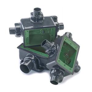 "Perma-Cote PMFS-1-75 FS Device Box, 1-Gang, Dead-End, 3/4"", Ferrous Metal/PVC Coated"