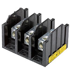 """Eaton/Bussmann Series 16390-3 Stud-Stud Block, 3-Pole, LineLoad: 3/8"""" x 1-1/8"""" Stud, 600V"""