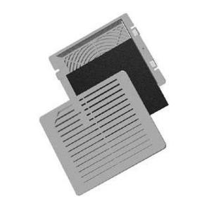 """Hoffman TEP4 Exhaust Grille, 4"""", Thermoplastic, Light Gray"""