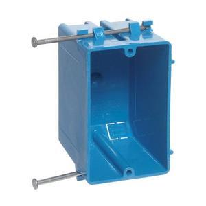 """Carlon B120A-UPC Switch/Outlet Box, 1-Gang, Depth: 3-1/4"""", Nail-On, Non-Metallic"""