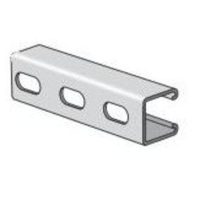 "Power-Strut PS210EH-10SS Channel - Elongated Holes, Stainless Steel 304, 1-5/8"" x 1-5/8"" x 10'"