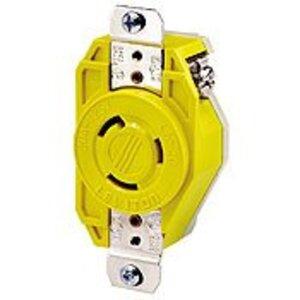 Leviton 23CM-10 Locking Receptacle, Corrosion Resistant, 20A, 125V, Yellow