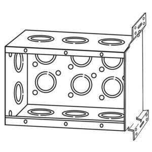 "Appleton 133APFB1/2 Handy Box, 3-Gang, 2-1/2"" Deep, Concentric KOs, Welded, Steel"