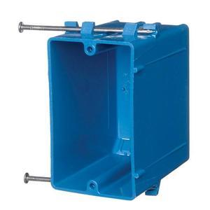 """Carlon B122A-UPC Switch/Outlet Box, 1-Gang, Depth: 3-1/2"""", Nail-On, Non-Metallic"""