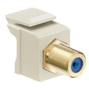 Leviton 40831-BI Snap-In Adapter, F-Type, Gold-Plated/Ivory