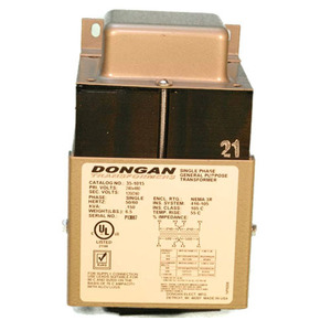 Dongan Transformer 35-6020 Transformer, Control, Ventilated, 1PH, 250VA, 120 x 240 - 120/240