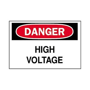 Brady 84875 Electrical Hazard Sign, DANGER HIGH VOLTAGE