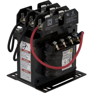 Square D 9070TF200D1 Control Transformer, 200VA, Multi-Tap, Type TF, 1PH, Open