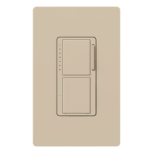 Lutron MA-L3S25-TP Incandescent/Halogen Dual Dimmer and Switch, Taupe