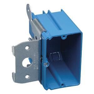 "Carlon B121ADJ Switch/Outlet Box, 1-Gang, Adjustable, Depth: 3-3/8"", Non-Metallic"