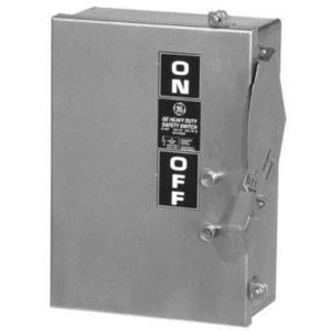GE Industrial THN3363R Disconnect Switch, 100A, 600V, 3P, Non-Fusible, NEMA 3R, Heavy Duty