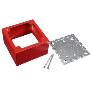 Wiremold R5753 Deep Alarm Device Box, 2-Gang, 500/700 Series, Red
