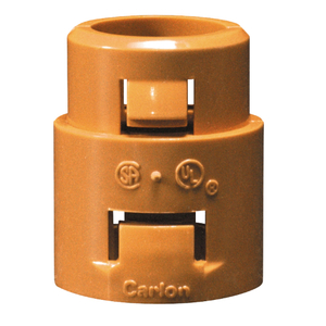 "Carlon SCA253F Resi-Gard Snap-In Adapter, Non-Metallic, 1"", Orange"