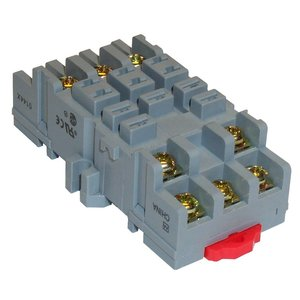 Square D 8501NR82 Relay, Socket, 11 Blade, 15A, 300VAC, DIN Rail Mount, Screw Clamp